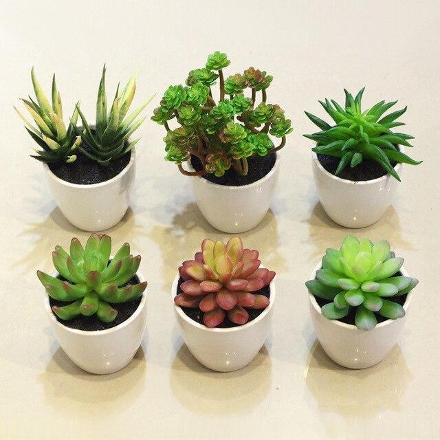 ZAKKA Groceries Variety Of Desert Plants Potted Bonsai Simulation Succulents Suit Desktop Windowsill