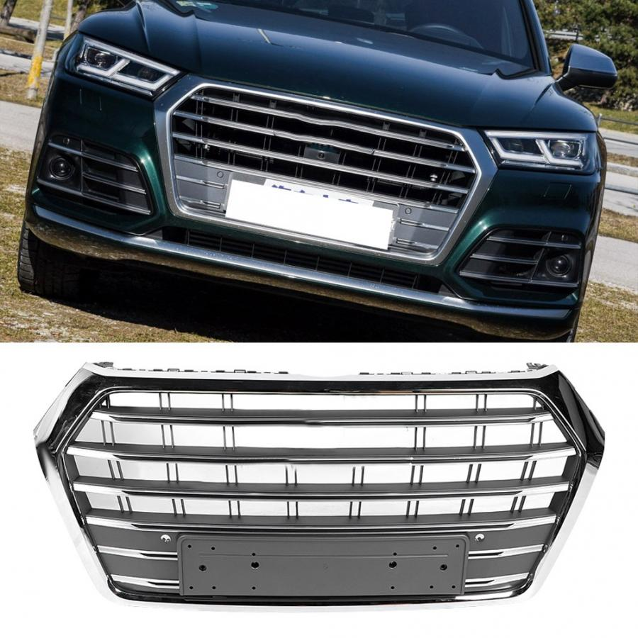 Car Modification For <font><b>SQ5</b></font> Style Front Bumper Hood Mesh <font><b>Grill</b></font> Grille Fit for <font><b>Audi</b></font> <font><b>Q5</b></font> 2018 2019 Car Accessories image