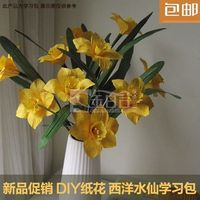 Western Home Decoration Narcissus Flower Floral Origami Material Handmade DIY Kit