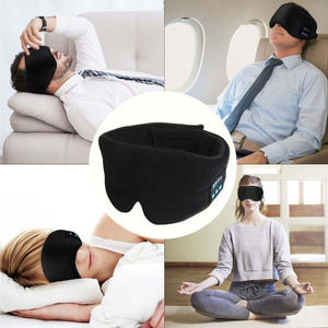 Image 5 - JINSERTA Wireless Stereo Bluetooth Earphone Sleep Mask Phone Headband Sleep Soft Earphones for Sleeping Eye Mask Music Headset
