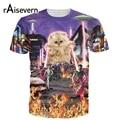 The Kitten No One Loved T-shirt Killer Laser Kitty T Shirt 3D Funny Animal Cat Design Full Print Tee Tops Summer Style Dropship