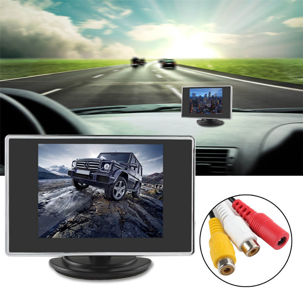 Brand New Mini 3.5 TFT LCD Car Monitor Parking Car Rear View Reverse Car Monitor For Rearview Camera DVD 2Ch Video Input