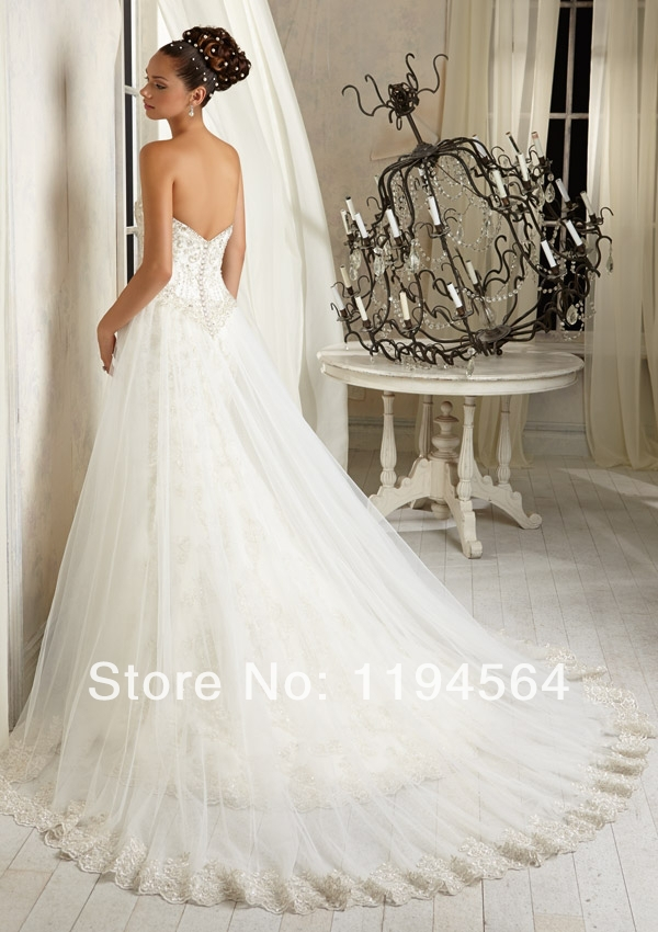 Detachable train appliques and beaded mermaid white organza bridal detachable train appliques and beaded mermaid white organza bridal gowns 2014 sweetheart best wedding dress free shipping wh1209 in wedding dresses from junglespirit Images