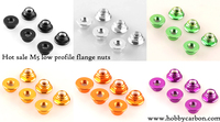 Free Shipping 20pcs Lot M5 Colored Aluminum Lock Nut With Nylon CW M5 Lock Nut