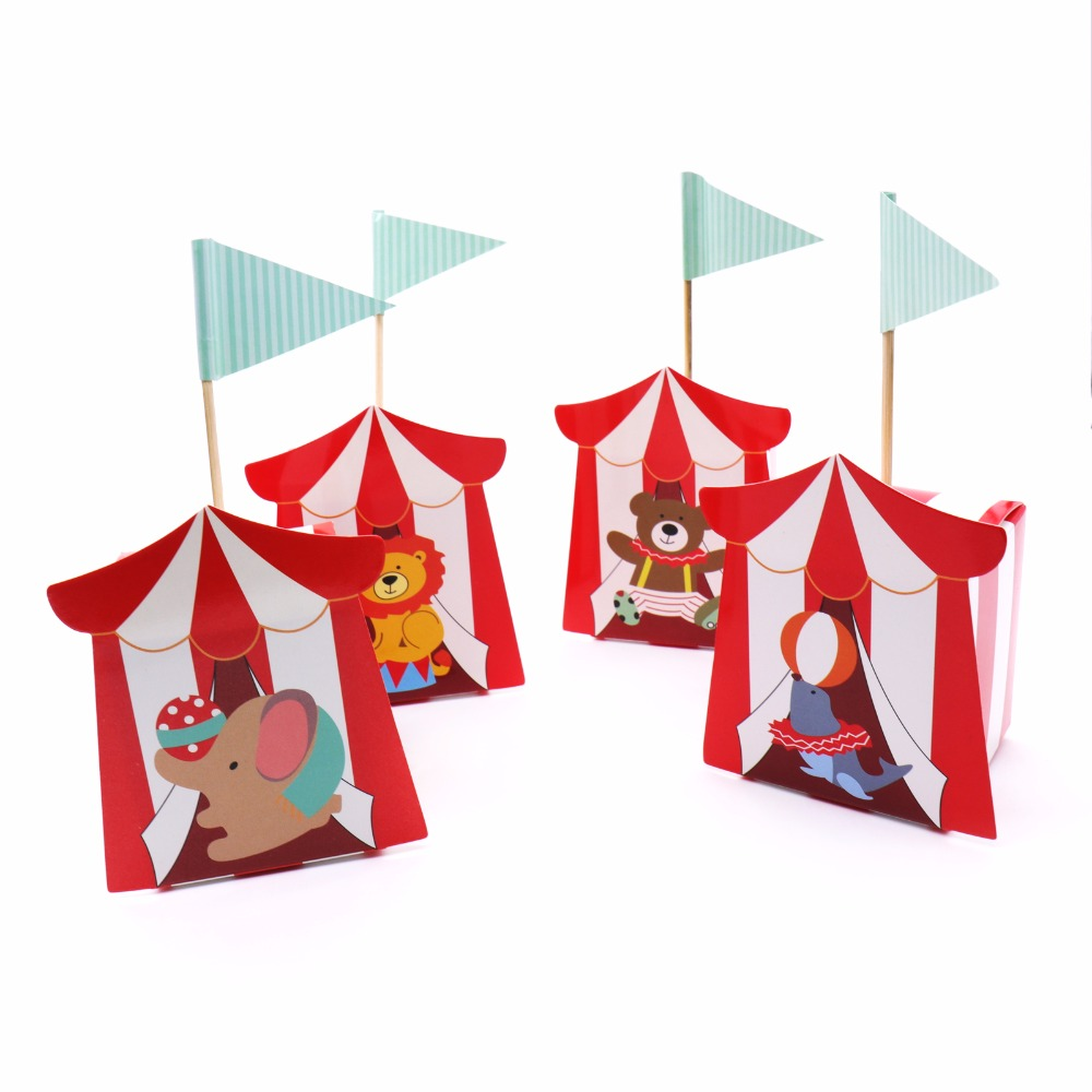 50pcs Baby Shower Circus Candy Box Theme Party Supplies Cartoon Kids Birthday Party Decorations Baby Shower Supplies Candy Box
