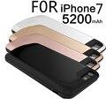 5200 мАч ультратонкий Портативный Банк Силы Резервное Копирование Внешнее Зарядное Устройство Чехол Для iPhone 7 Случаях Батареи