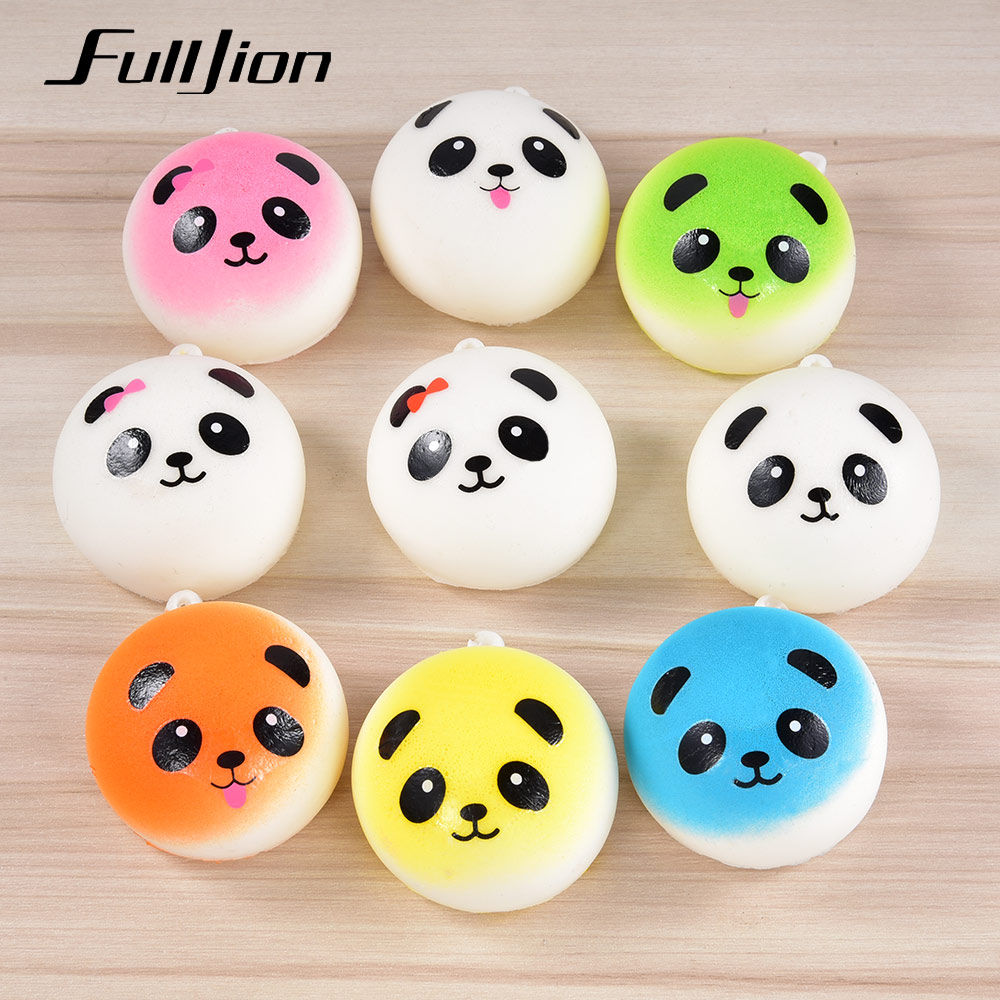 Fulljion Squishe Squishy Slow Rising Panda Novelty Gag Toys Stress Relief Antistress Squeeze Squisy Popular Fun Gadget For Phone