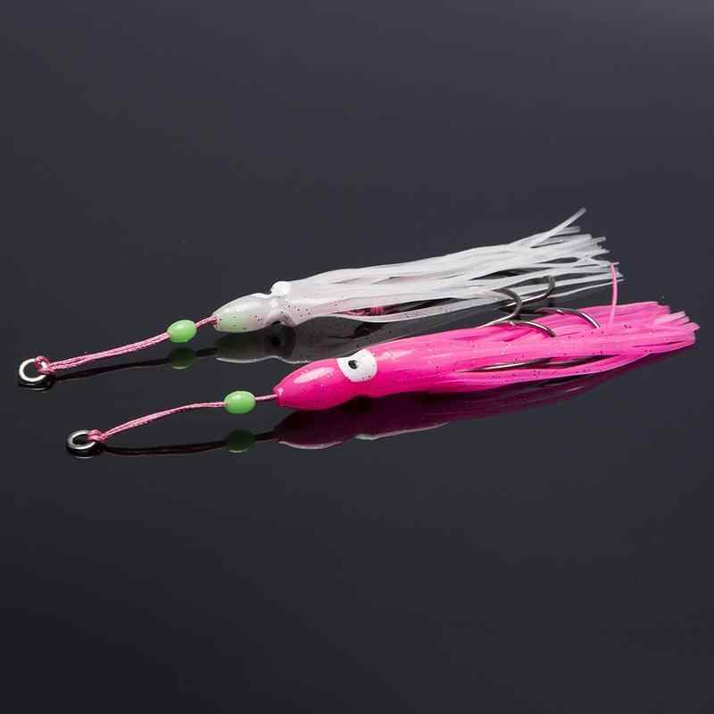 2 шт. рыболовные приманки Рыболовные Вспомогательные аксессуары для рыбалки, крючок осьминог джиг Кальмар джиг Крючки подходит для джигов Inchiku