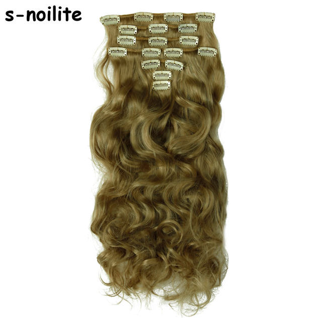 Online Shop Real Thick Clip In Hair Extensions Long Curly Wavy Full