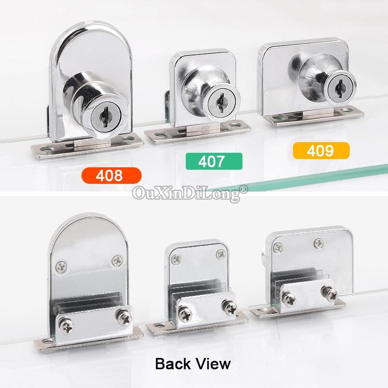 HOT 10 ensembles simple/Double verre ouvert armoire serrure bijoux centres commerciaux affichage en vitrine armoire verrouille les clés aussi bien/clés différentes