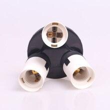 Photo Studio 1-3 E27 Lamp Base Bulb Socket Splitter Adapter 3 in 1 Light Holder Photo Studio Accessories
