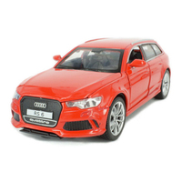 1 32 Scale Diecast Car Quattro Audi RS6 Metale Model Pull Back Alloy Toys With Light