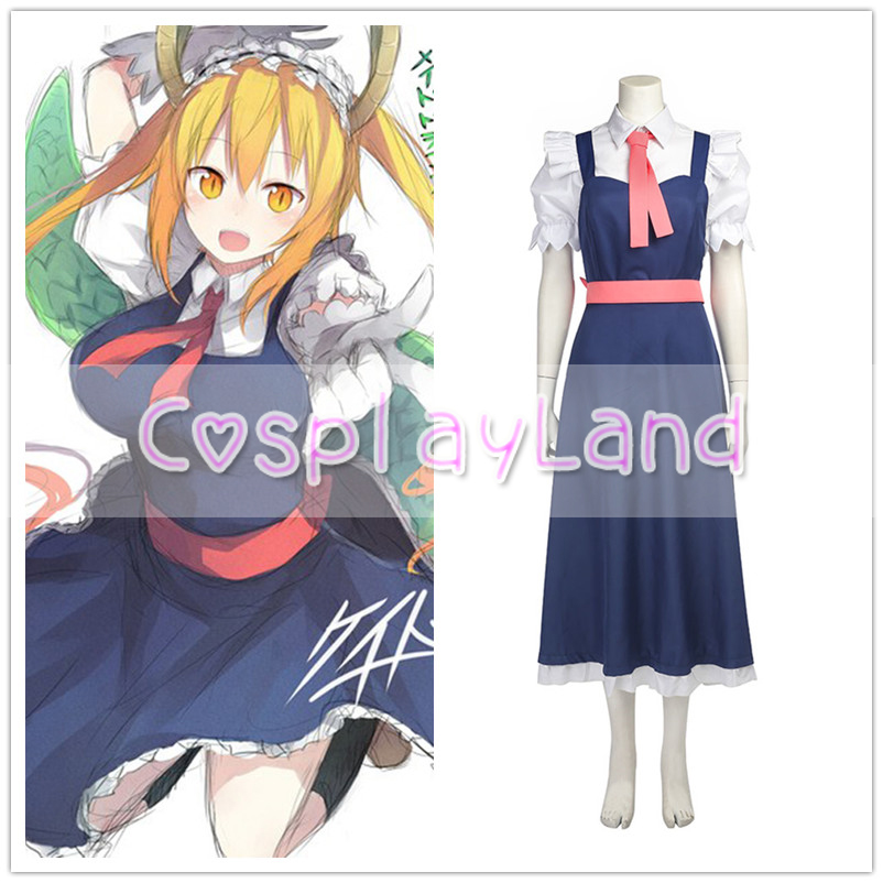 Anime Kobayashi-san Chi no Maid Dragon Tooru Dress Cosplay Costume Adult Women Halloween Carnival Cosplay Costume