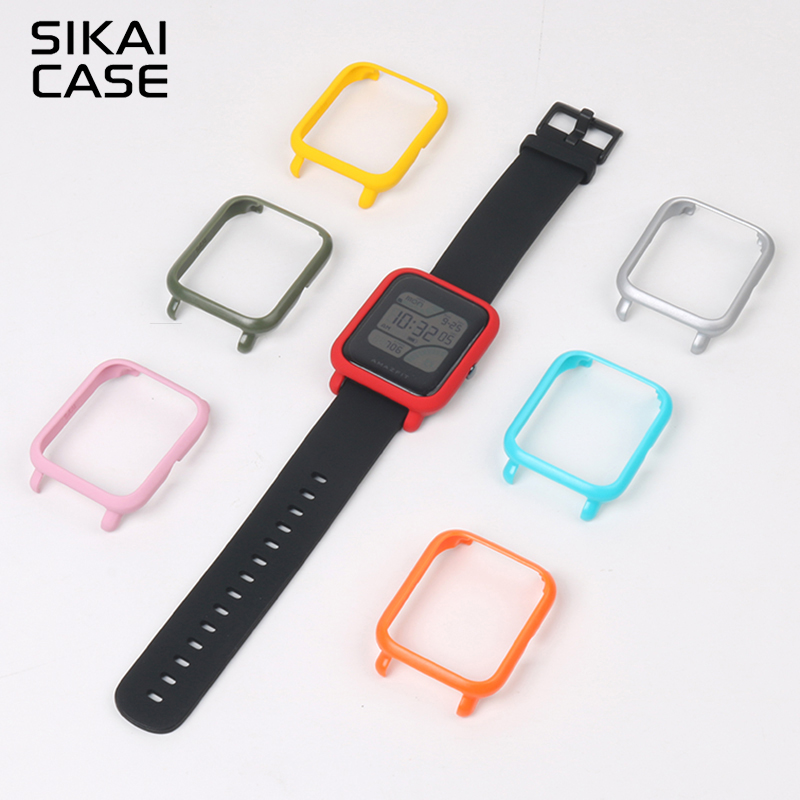 SIKAI For Xiaomi Huami Amazfit Watch Accessories PC Case For Huami Amazfit Bip Bit Youth Edition (Pace Lite) Protective Case
