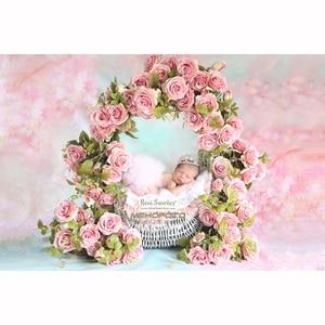 Тонкие виниловые фотообои на заказ, цифровая печать, фон для новорожденных, цветочный фон для фотографий S-101