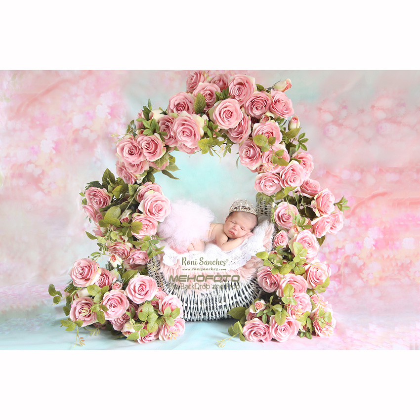 Vopsituri personalizate subțire de vinil pentru fotografie Imprimare digitală Imaginea de fundal pentru nou-născuți florale Poza S-101