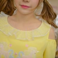 Princess sweet lolita dress Candy rain original new spring girl lace Unicorn leisure dress embroidered sweet C22AB6015