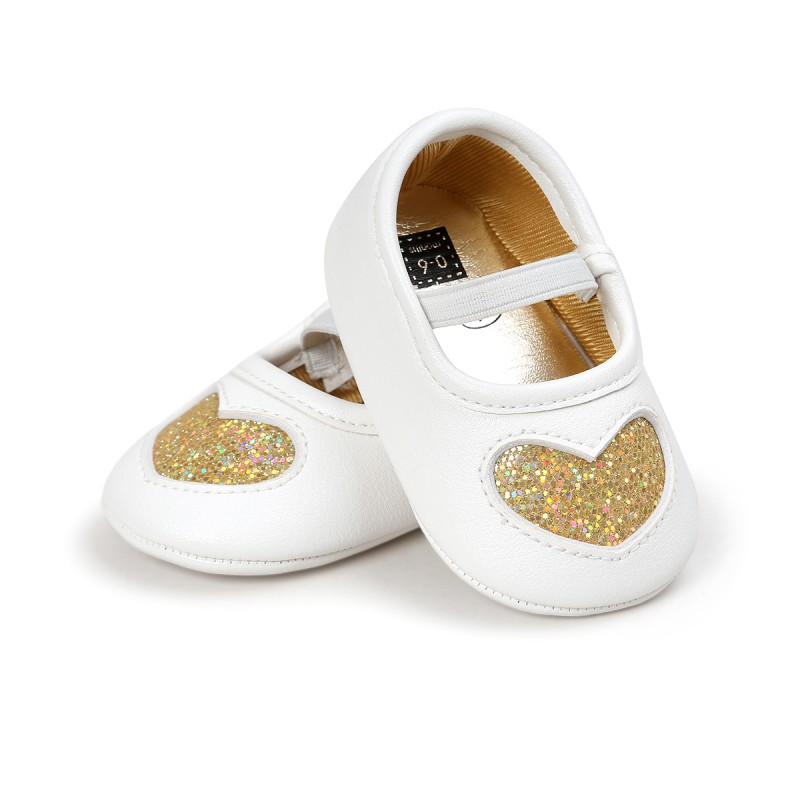 Baby Autumn Spring Shoes For Girls New Fashion Leather Baby Infant Shoes Cute Love PU Soft Baby Princess Shoes For 0-18M  Baby