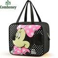 Minnie Mouse Lunch Bags para as mulheres bolsas dos desenhos animados Doraemon olá Kitty Lunch Bag para crianças térmicas refrigerador de comida sacos de piquenique