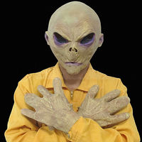 Комплект чужой маска Goves saucerman внеземной Хэллоуин страшные маски тушь латекс Реалистичная Силиконовые Оптовая Ужас