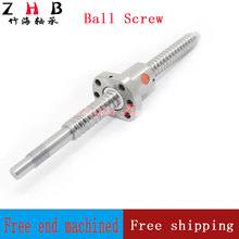 Free shipping SFU1605 1000mm rolled ball screw C7 grade with 1605 flange single ball nut for