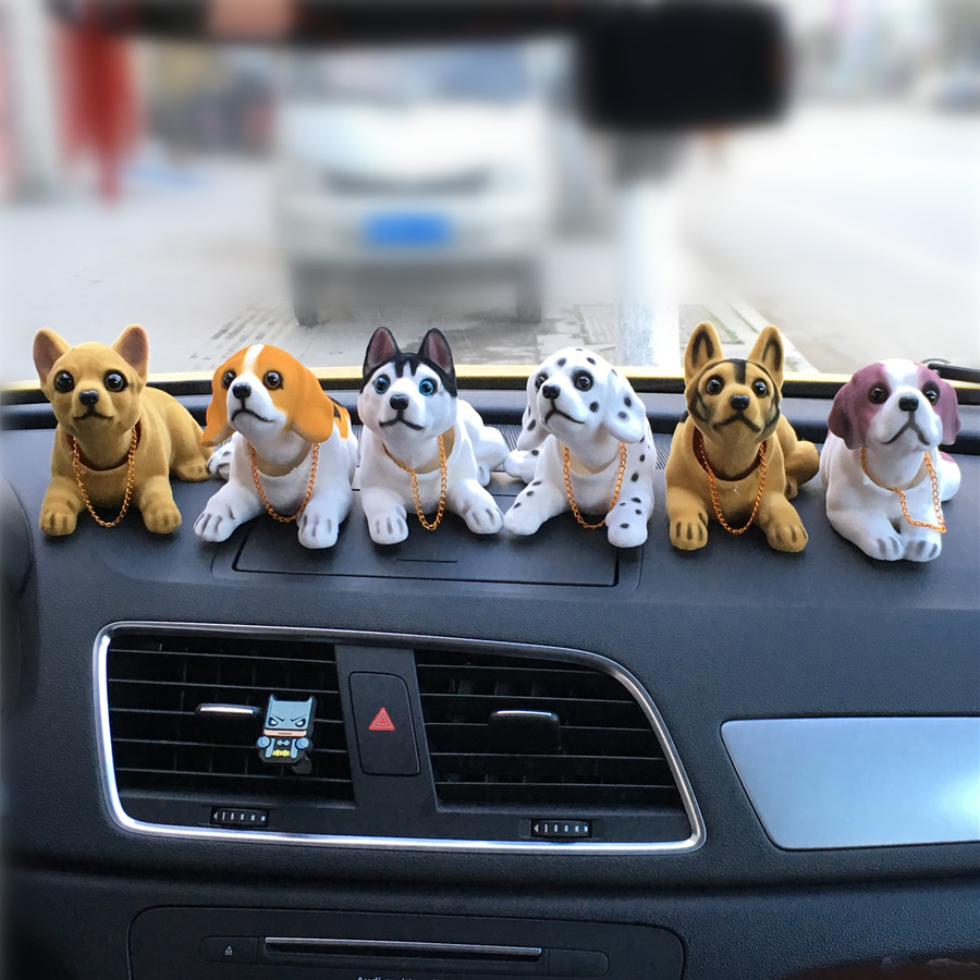 car will shake the head of the puppy perfumes