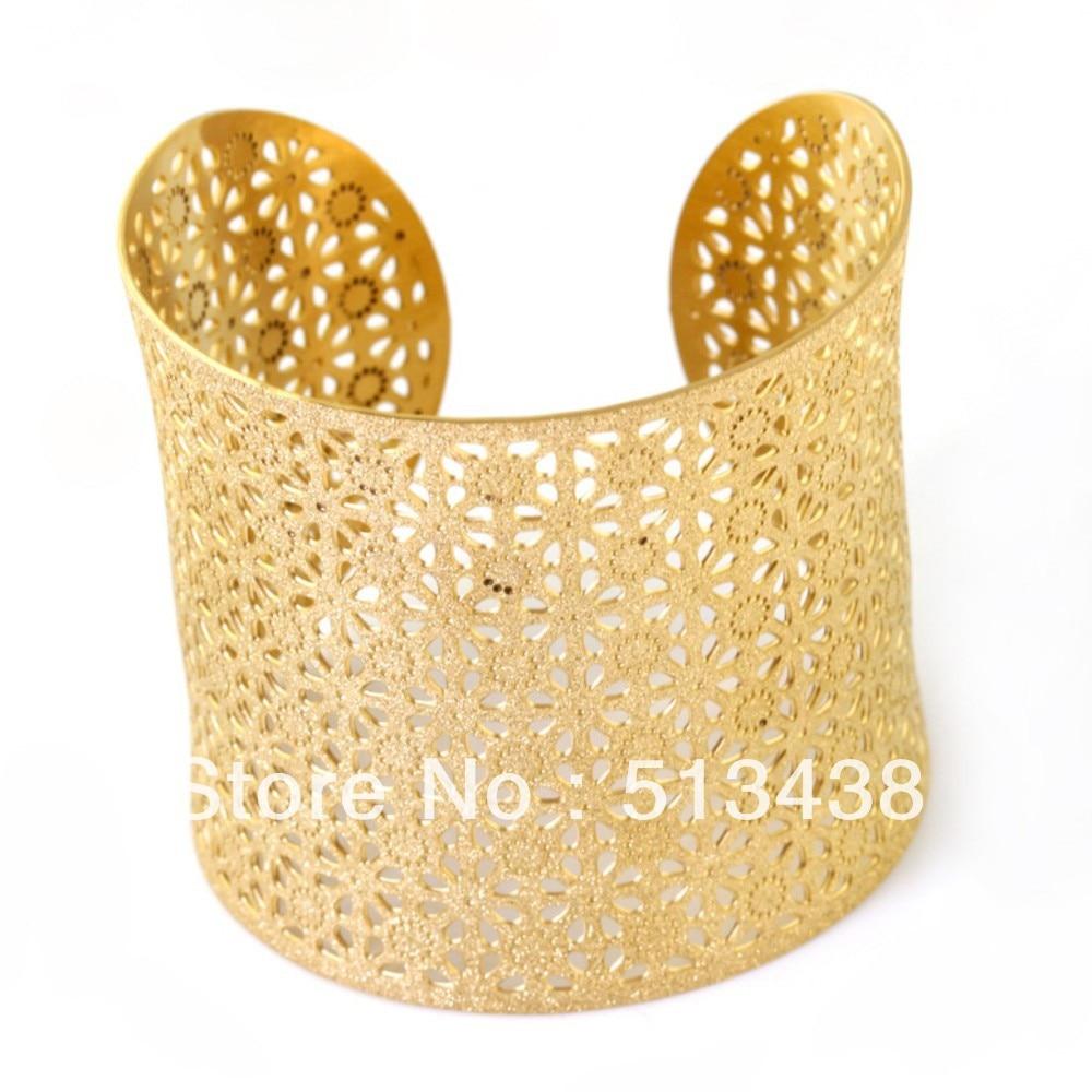 486d1260786 5pcs Lot Nss085 2016 New Style Women Jewelry 100 Stainless Steel Gold Sandy Wrist  Cuff Bracelet