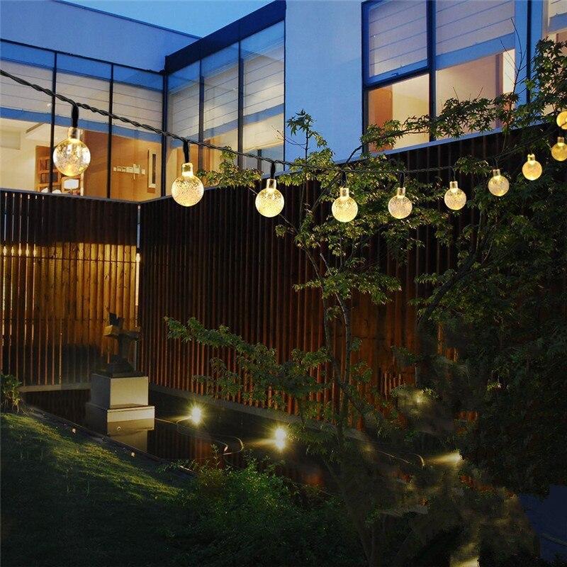 cheapest Solar Globe lights LED String Lights 30 LED 19 8ft  Waterproof Fairy Garland for Outdoor Garden Christmas Wedding Decoration