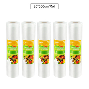 Image 4 - 5 Rolls/lot Vacuum Sealer Bags Food Packaging Sealing Machine Packer Packing Sachet Plastique Saver 12/17/20/25/28*500cm
