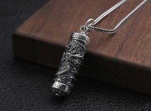 Image 4 - Yeni 100% 925 gümüş ejderha kolye tibet Gau kutusu ejderha budist namaz kutusu kolye