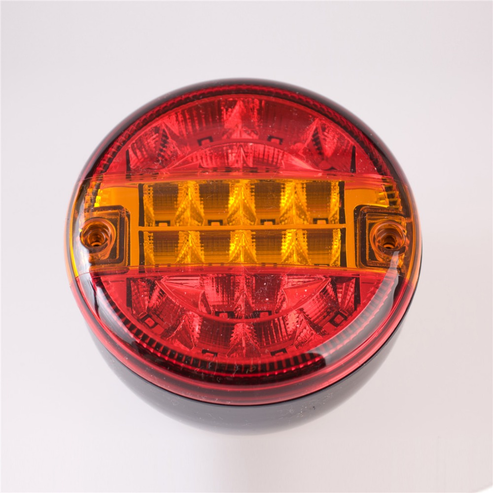 1Pcs 10-30V 140MM Universal Led Rear Round Tail Lamp Light Lorry Truck Trailer Lights Car Parking Backing Up Lamp Indicators