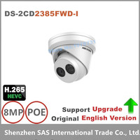2017 Hikvision New Released English Version H 265 IP Camera DS 2CD2385FWD I 8MP Network Turret