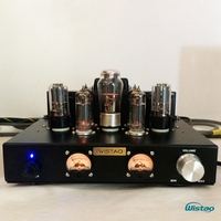 IWISTAO Tube Amplifier Single ended Class A 6P1 Parallel Power Stage 2x6.8W 6N8P Preamp 5Z4P Rectifier Natural Sweet HIFI Audio