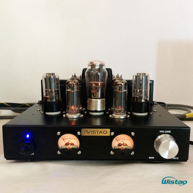 IWISTAO Tube Amplificateur Single-ended Classe A 6P1 Parallèle Étage de Puissance 2x6.8 W 6N8P Préampli 5Z4P Rectifier Doux naturel HIFI Audio