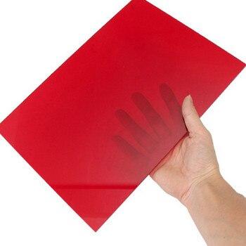 9bffd576ccb A4 210x297mm roja de corte talla 3mm hoja de acrílico DIY modelo de  plástico hoja de plexiglás de la placa para ventana reemplazos de juguete  parte
