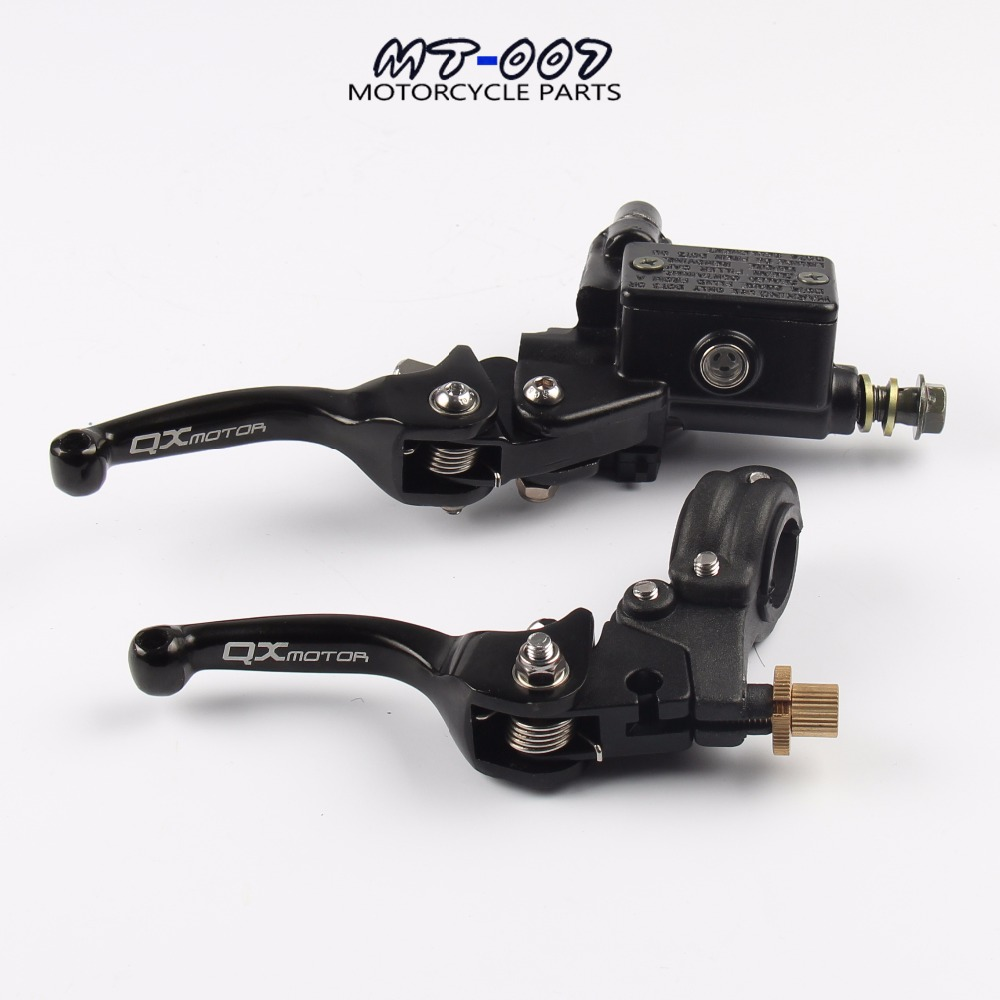 Brake folding brake lever clutch Lever with front pump Fit Most Motorcycle Dirt Pit Bike Motorcross CRF KLX YZF RMZ Refit Part цена