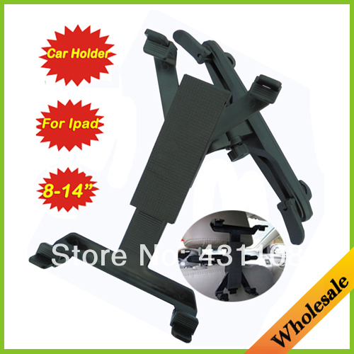 "Wholesale Dropshipping Free shipping Car universal car back seat Headrest Holder Mount stand for 8-14"" iPad / Tablet PC / GPS(China (Mainland))"