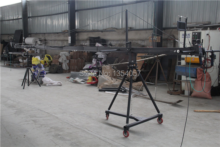 Professional DV Camera Crane Jib 3m 6m 8m square for Video Camera filming with 2 axis motorized head 8m 3 axis jimmy jib crane for with motorized dutch head loading 16kg