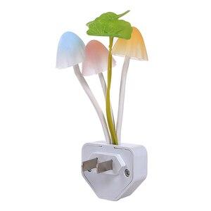 Image 5 - 참신 미국 및 eu 플러그 밤 빛 유도 꿈 버섯 곰 팡이 led 램프 3 led 버섯 램프 led 야간 조명