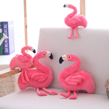 15/25cm Creative Simulation Flamingo Plush Toys and Pillow Cute Animal Bird Stuffed Doll Cushion Gift Toy(China)