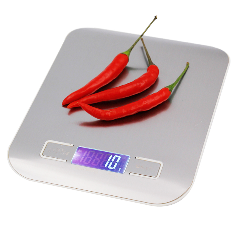5000g Digital Scale Kitchen Weight 5KG 1G electronic weighing balance Cooking Tools with Super slim Stainless Steel Platform