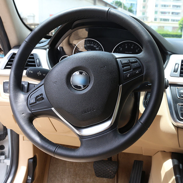 Chrome Steering Wheel Cover Trim Sticker For BMW 3 Series