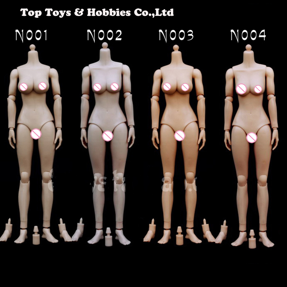 1/6 Scale Female Flesh Color Body Figure 1:6 Large/Medium Breast Nude Action Toys Accessories