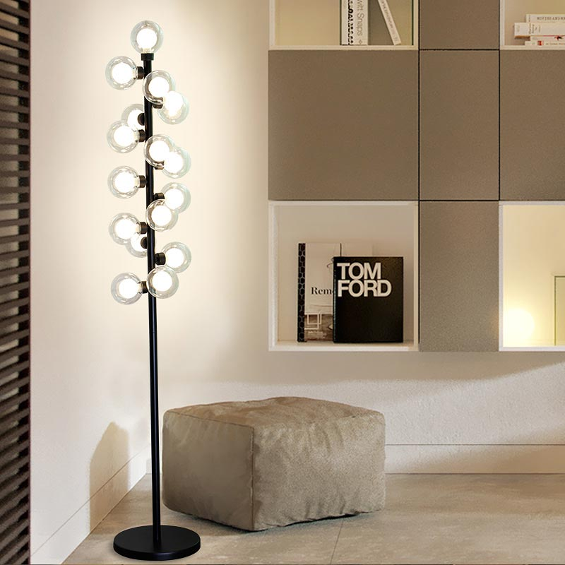 New Modern Wood Table Floor Lamp 5W Led Bulb Living Room Bedroom Study Standing Lights Decor Home Black Iron White Fabric 220V modern wood table floor lamp living room bedroom study standing lamps fabric decor home lights wooden floor standing lights