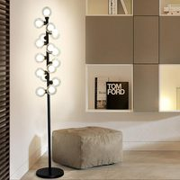 New Modern Wood Table Floor Lamp 5W Led Bulb Living Room Bedroom Study Standing Lights Decor Home Black Iron White Fabric 220V