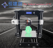DHL Free Portable Acrylic Prusa I3 3D Printer Kit Line/Off-line Printing Self-assembly DIY Your Own 3D Printer With LCD Screen