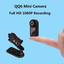QQ6 Micro Câmera Full HD 1080 Mini Câmera Infravermelha Nigth Visão DV Câmera Portátil 12 M Sensor De Movimento De Vídeo Camcorder Espia