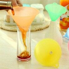 5 шт./компл. цветная пластиковая воронка Маленький Средний Большой выбор жидкого масла кухонный набор