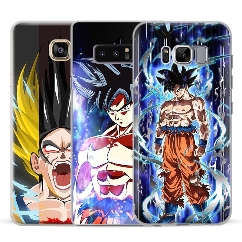 c0ae5a3b729 Dragon Ball Super Goku Phone Case For Samsung Galaxy S5 S6 S7 Edge S8 s9 Plus  Note 8
