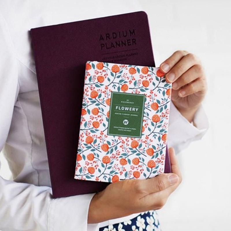 2019 Baru Kedatangan Lucu PU Kulit Bunga Bunga Jadwal Buku Mingguan - Notebook dan menulis bantalan - Foto 2